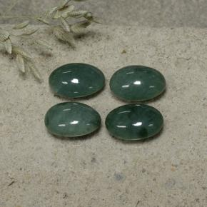 Green Jadeite Gem - 2.3ct Oval Cabochon (ID: 496141)