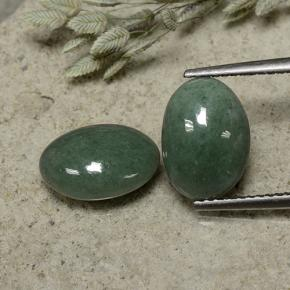 Green Jadeite Gem - 3.4ct Oval Cabochon (ID: 496148)