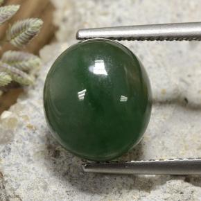 Green Jadeite Gem - 6.2ct Oval Cabochon (ID: 496183)