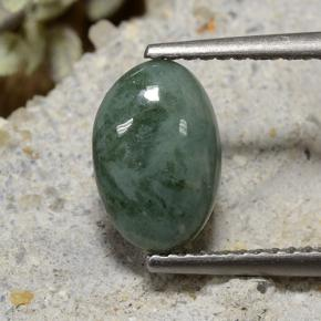 thumb image of 2.2ct Oval Cabochon Green Jadeite (ID: 496191)