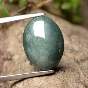 Green Jadeite Gem - 4.9ct Oval Cabochon (ID: 496199)