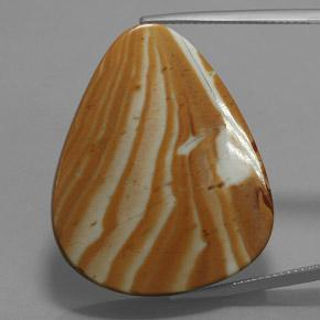 Multicolor Jasper Gem - 41.7ct Pear Cabochon (ID: 363841)