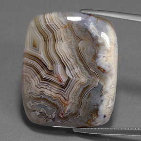 Multicolor Jasper Gem - 34.6ct Cushion Cabochon (ID: 394216)