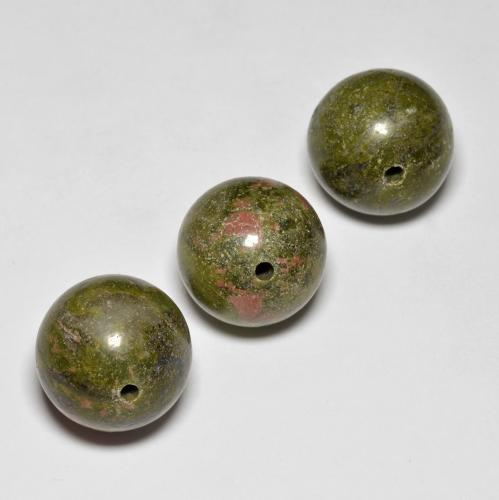 16.1ct Drilled Sphere Multicolor Jasper Gem (ID: 469882)
