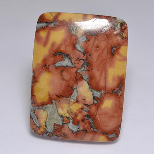 Multicolor Jasper Gem - 67.8ct Cushion Cabochon (ID: 521742)