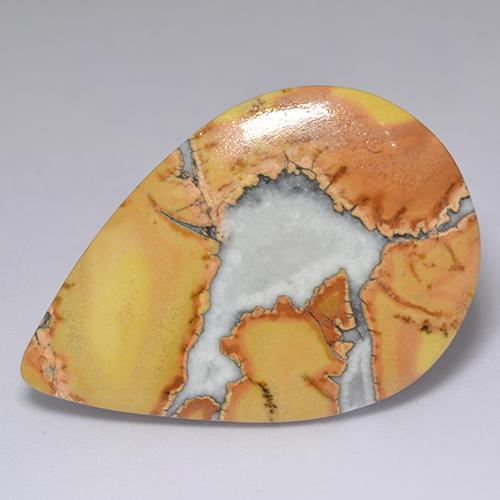 Multicolor Jasper Gem - 33.5ct Pear Cabochon (ID: 522208)