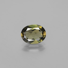 Deep Green Kornerupine Gem - 1.6ct Oval Facet (ID: 380733)