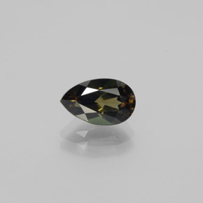 Yellowish Green Kornerupine Gem - 1.7ct Pear Facet (ID: 380740)