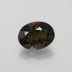 Brownish Green Kornerupine Gem - 1.7ct Oval Facet (ID: 380995)