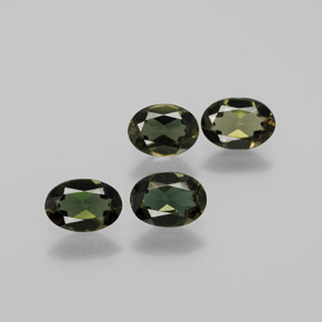 Yellowish Green Kornerupine Gem - 0.4ct Oval Facet (ID: 381742)