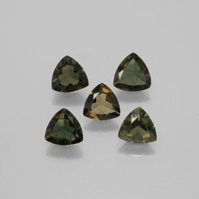 Brownish Green Kornerupine Gem - 0.4ct Trillion Facet (ID: 381743)
