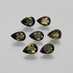 Brownish Green Kornerupine Gem - 0.4ct Pear Facet (ID: 381744)