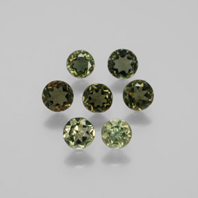 0.2ct Round Facet Brownish Green Kornerupine Gem (ID: 381745)