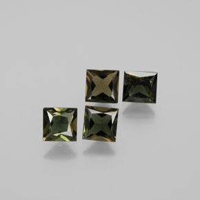 0.5ct Princess-Cut Brownish Green Kornerupine Gem (ID: 381748)