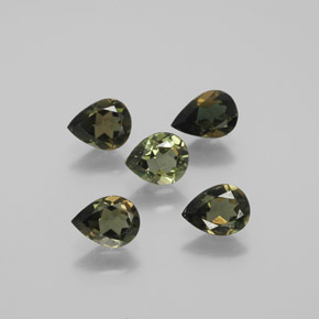 0.5ct Pear Facet Brownish Green Kornerupine Gem (ID: 381749)