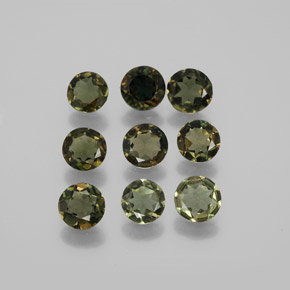 Brownish Green Kornerupine Gem - 0.4ct Round Facet (ID: 381751)