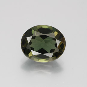 3.14 ct Oval Facet Deep Green Kornerupine Gemstone 10.49 mm x 8.7 mm (Product ID: 383579)