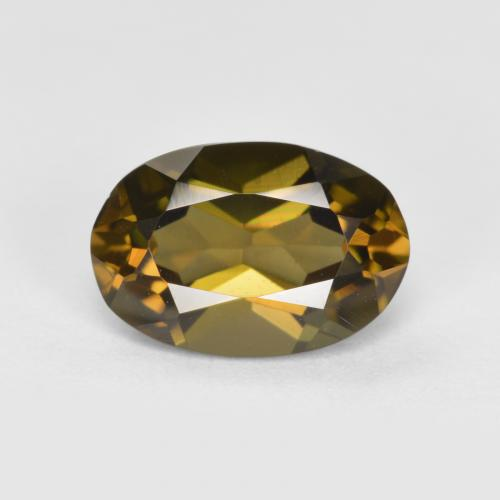 Deep Golden Brown Kornerupina Gema - 1.3ct Forma ovalada (ID: 389150)