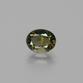 Buy 1.32 ct Yellowish Green Kornerupine 7.75 mm x 6.1 mm from GemSelect (Product ID: 389153)