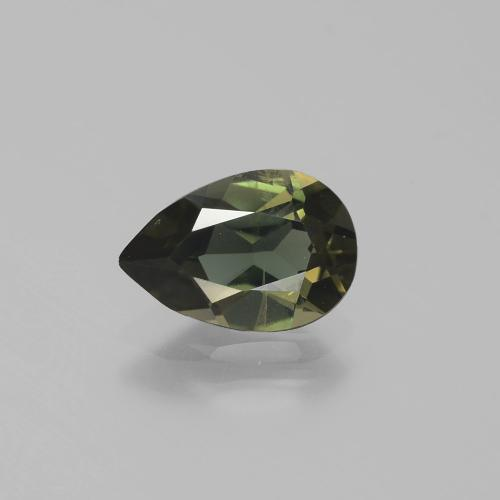 Yellowish Green Kornerupine Gem - 1.3ct Pear Facet (ID: 389370)