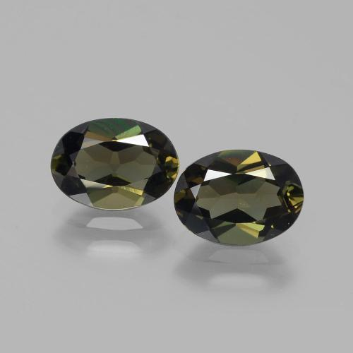 Yellowish Green Kornerupine Gem - 1.1ct Oval Facet (ID: 389416)