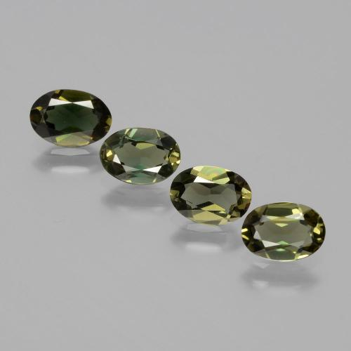 Yellowish Green Kornerupine Gem - 0.5ct Oval Facet (ID: 389500)