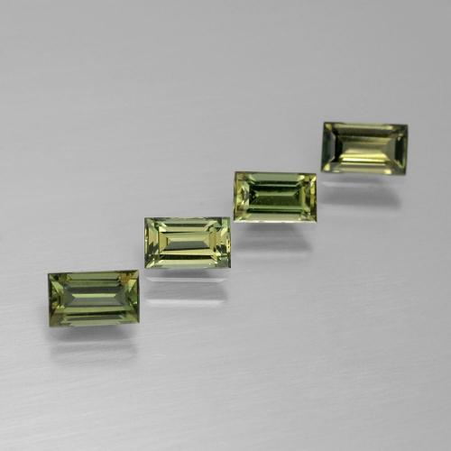Yellowish Green Kornerupine Gem - 0.3ct Baguette Facet (ID: 389760)