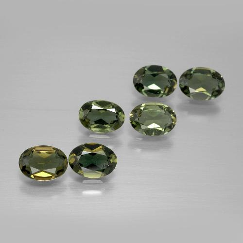 0.4ct Oval Facet Yellowish Green Kornerupine Gem (ID: 389764)