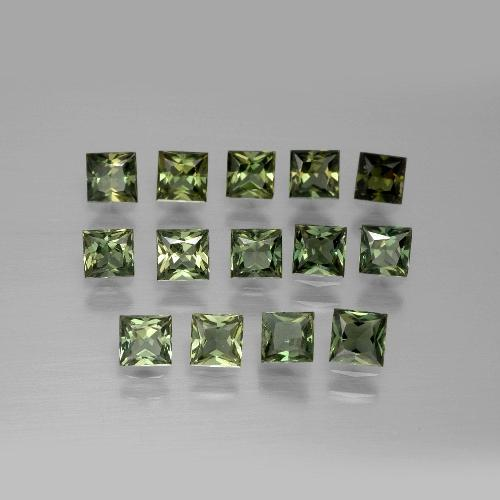 Forest Green Kornerupine Gem - 0.2ct Princess-Cut (ID: 389766)