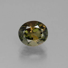 2.40 ct Oval Facet Yellowish Green Kornerupine Gemstone 8.62 mm x 7.3 mm (Product ID: 390419)