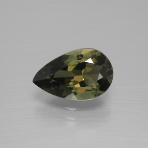 Yellowish Green Kornerupine Gem - 2.1ct Pear Facet (ID: 390427)