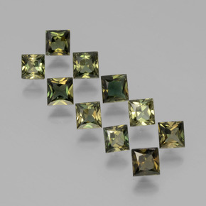 Yellowish Green Kornerupine Gem - 0.2ct Princess-Cut (ID: 394271)
