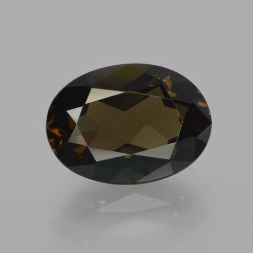 2.75 ct Oval Facet Yellowish Brown Kornerupine Gemstone 10.24 mm x 7.5 mm (Product ID: 411603)