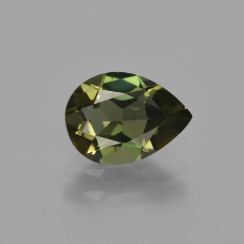 Yellowish Green Kornerupine Gem - 1.1ct Pear Facet (ID: 412045)