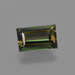 Brownish Green Kornerupine Gem - 0.7ct Baguette Facet (ID: 421880)
