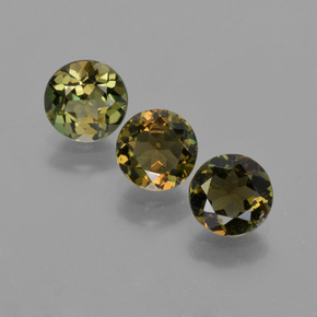 Brownish Green Kornerupine Gem - 0.6ct Round Facet (ID: 421923)