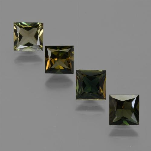 Earth Green Kornerupine Gem - 0.6ct Princess-Cut (ID: 421927)