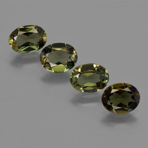 Deep Earth Green Kornerupine Gem - 0.7ct Oval Facet (ID: 421929)
