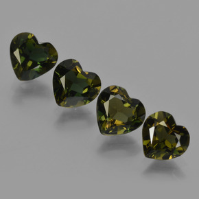 Brownish Green Kornerupine Gem - 0.6ct Heart Facet (ID: 421931)