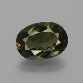 Brownish Green Kornerupine Gem - 2.9ct Oval Facet (ID: 430924)