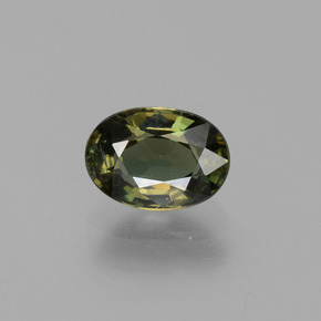 Brownish Green Kornerupine Gem - 1.5ct Oval Facet (ID: 453092)