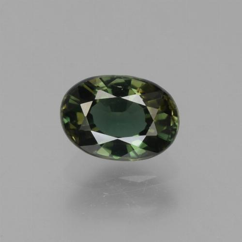 1.3ct Oval Facet Brownish Green Kornerupine Gem (ID: 453168)