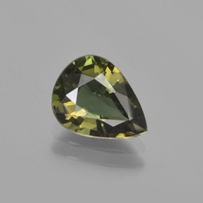 Brownish Green Kornerupine Gem - 1.8ct Pear Facet (ID: 453222)