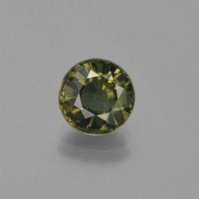 1.6ct Round Facet Dark Green Kornerupine Gem (ID: 453228)