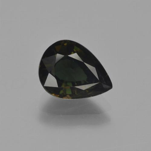 2.6ct Pear Facet Greenish Brown Kornerupine Gem (ID: 454565)