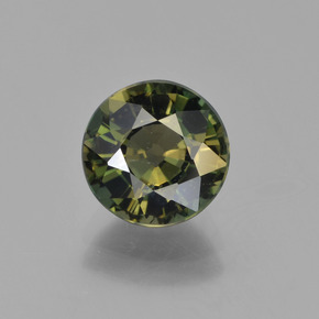 Deep Earth Green Cornerupina Gem - 2.5ct Sfaccettatura rotonda (ID: 454567)