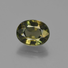 Brownish Green Kornerupine Gem - 2.1ct Oval Facet (ID: 454568)