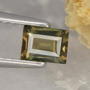 0.4ct Baguette Step Cut Brownish Green Kornerupine Gem (ID: 496839)