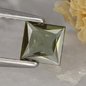 0.4ct Princess-Cut Brownish Green Kornerupine Gem (ID: 496844)