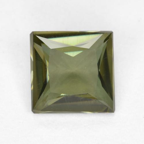 Warm Forest Green Kornerupina Gema - 0.5ct Corte Princesa (ID: 496902)